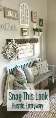 Rustic Entryway Idea - Entryway Decor - Rustic Entryway Ideas to Make Your Home . Rustic Entryway Idea - Entryway Decor - Rustic Entryway Ideas to Make Your Home Inviting and Functional - How to use your rustic decor to make an organized entryway Shabby Chic Flur, Shabby Chic Entryway, Rustic Entryway, Kitchen Entryway Ideas, Bench For Entryway, Small Entryway Decor, Decoration Chic, Decoration Design, Decorations