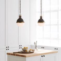 Visual Comfort Thomas O'Brien Hicks 2 Light 16 inch Bronze with Antique Brass Accents Pendant Ceiling Light Bronze Pendant Light, Globe Pendant Light, Pendant Lighting, Circa Lighting, Visual Comfort Lighting, Kitchen Pendants, Luxury Lighting, House And Home Magazine, Antique Brass