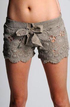 Ivelise Feito à Mão: Inspiração de Shorts De Crochê E Tricô                                                                                                                                                      Mais