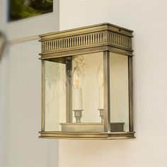 Inspired by the elegance of the regency era this stunning solid brass wall light would make a real period statement by a front door.  #Brass Rectangular #Outdoor #Wall #Light | Chelsea #Exterior Light |#Grand