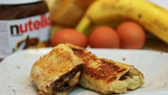 Banana Nutella French Toast Recipe - CookingWithAlia - Episode 371