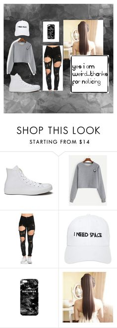 """Feeling Punk"" by emclifford ❤ liked on Polyvore featuring Converse, Nasaseasons, Mr. Gugu & Miss Go and blackandwhite"