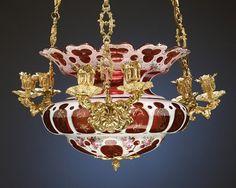 Bohemian glass chandelier  http://www.rauantiques.com/item/Bohemian-Glass-Chandelier.28-7827.html?sort=score+desc%2CPrice+desc=Price%3A%5B0+TO+5000.00%5D=99999=*%3A*=antiques=PRI_CAT%3AWEB.ANTIQUES.LIGHTING=99999=no