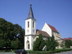 Parish church dating back to 13th century in Marchegg, Austria