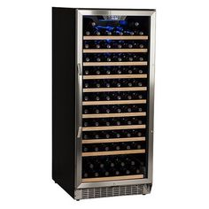 Built-In Wine Cellars - Edgestar 121 Bottle Single Zone Builtin Wine Cooler  Stainless Steel and Black >>> You can find more details by visiting the image link.