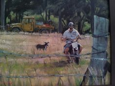 On the farm Oil painting