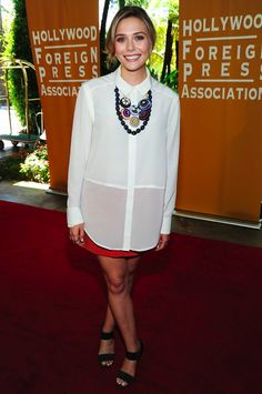 elizabeth olsen. love her style. modest and gorgeous at the same time!
