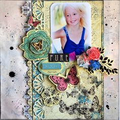 DT work for Anna's Craft Cupboard with Kaisercraft - Botanical Odyssey range. Anna Craft, Craft Cupboard, Gallery Wall, Scrapbooking, Pure Products, My Love, Layouts, Crafts, Range