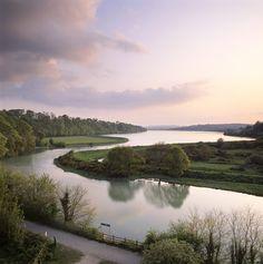 View of the Plym Estuary at Saltram in Devon
