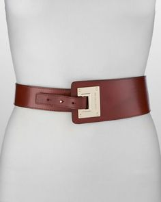 Asymmetrical Leather Belt by MICHAEL Michael Kors at Neiman Marcus. $88