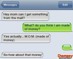 Text Message Made Of Money
