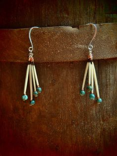 earrings with quills