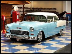 1955 Chevrolet 210 2-Door Sedan 350 CI, 4-Speed presented as lot F228 at Houston, TX 2012 - image1