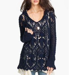 Trendy crochet tunic PATTERN, pdf TUTORIAL + detailed HQ charts, instant download boho crochet tunic pattern, designer crochet tunic pattern
