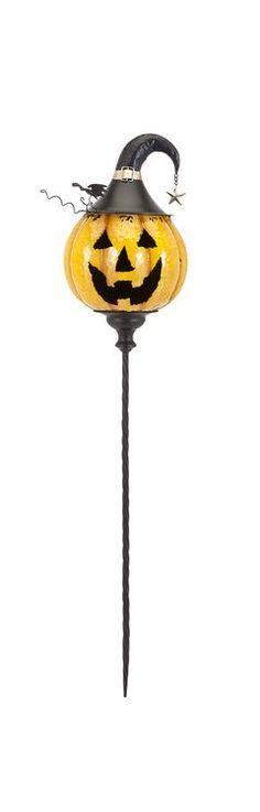 """Jackson Jack O Lantern Yellow Stake 47""""""""h x 10.25""""""""w x 10.25"""""""""""