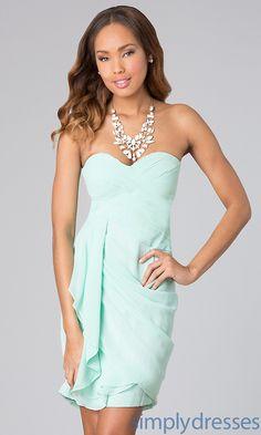 Strapless Dress, Cheap Short Dresses - Simply Dresses