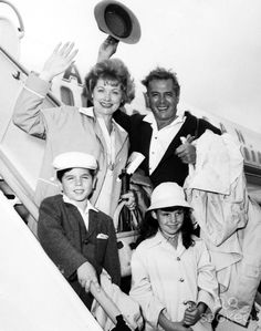 Lucille Ball and Desi Arnaz with Children Desi Jr. and Lucie Supplied by Smp/Globe Photos, Inc.