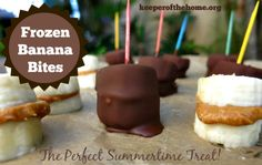 Frozen Banana Bites {Keeper of the Home}