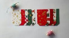 Tag de Natal em tecido