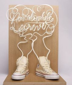 The lace art Chuck Taylor made by Pascal inspired French artiest Remy boire to Create this amazing 3D printed artwork.
