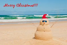 You want to make a snowman....sorry sandman at the beach?!