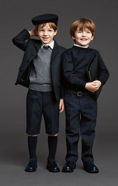 dolce and gabana 2014 kids collection Little Boy Fashion, Kids Fashion Boy, Look Fashion, Autumn Fashion, School Uniform Outfits, Storing Baby Clothes, Dolce And Gabbana Kids, Kind Mode, Kids Wear