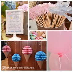 gender reveal ice cream social
