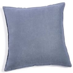 Washed linen cushion, storm blue 60 x 60cm