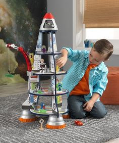 This Rocket Ship Play Set is perfect! #zulilyfinds