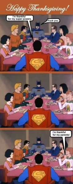 Justice League Thanksgiving