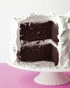 Devils Food Cake with Fluffy Frosting