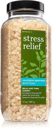 Bath & Body Works- eucalyptus and spiramint is my favorite.. Bath salts and body sugar scrub :)