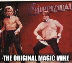 The Original Magic Mike // Chris Farley Patrick Swayze SNL Saturday Night Live Chippendales