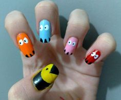 PAC MAN NAILS! epicness