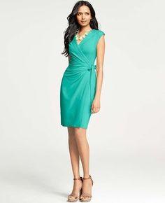 ShopStyle: Ann Taylor Miracle Wrap Dress