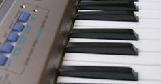 Funções e sons de um teclado musical