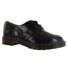 Dr.Martens 1461 Noir Patent Lamper Black Womens Shoes - L...