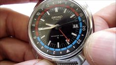Seiko Navigator Timer Gmt Automatic Vintage Wristwatch