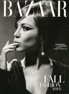 Harper's Bazaar; beautiful cover. Write a column.