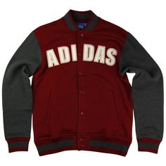 Adidas Originals Fleece Varisty Jacket / Burgundy | Seasons Clothing