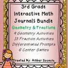 This Bundle includes interactive math journal activities, differentiated math journal prompts (to guide instruction), and math center games for 3rd...