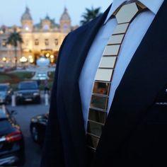 HEX TIE EMIRATES complemented by @Hextie 18k GOLD Garment Clip...