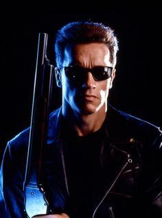 """Arnold Schwarzenegger as The Terminator in """"The Terminator"""""""