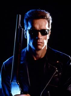 "Arnold Schwarzenegger as The Terminator in ""The Terminator"""