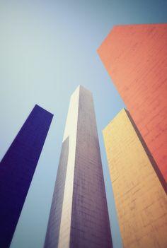Ciudad Satélite C. Architecture in colour. Colour combination inspiration