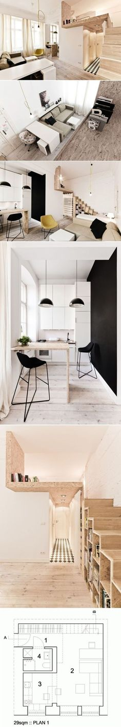 Mini apartments with areas of 20 or 30 square meters are usually considered too…