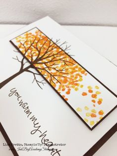 Yesterday I shared with you that I challenged my team to send out thank you cards all this week and that I am playing along. How perfect was it that the Paper Players challenge this week is Fall Thank You Cards? A sample very similar to this, using Stampin'Up!'s Sheltering Tree stamp set, showed up …