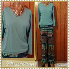 ⏬Palazzo Pants⏬ Multi colors pants made of  100% Rayon 29' inseam Size small No additional discount on markdowns! Final price. Pants
