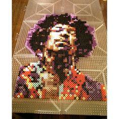 Jimi Hendrix perler beads by  johnnydream78