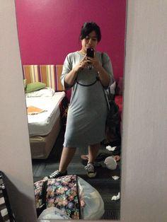 Mirror selfie in messy room. 504 Baiyoke Boutique. Bangkok, Thailand.